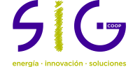 SIG coop · energía – simulación- formación Logo